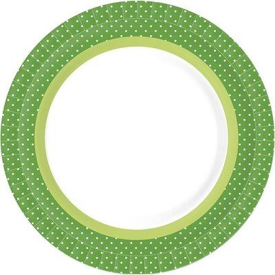 Borden BBQ Green Line, plat Ø 22 cm, Karton, gelamineerd *** Duni