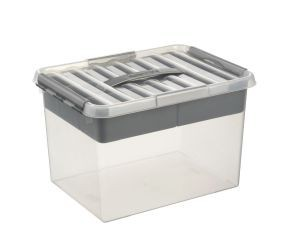 Q-line MultiBoxes 22 ltr. transparant/metallic