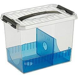 Q-line Mediaboxes DVD-box 9 ltr. transparant/oceaan blauw/ metallic