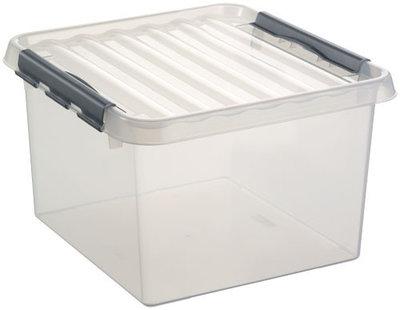 Kunststof Opbergbox 26 liter met klemdeksel, Sunware Q-line