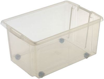 Rollerbox Nesta 59,5 x 39,5 x 30,5 cm 51 ltr. transparant