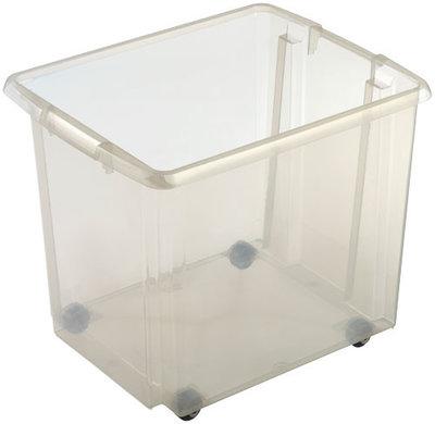 Rollerbox Nesta 45,5 x 36 x 38,5 cm 45 ltr. transparant