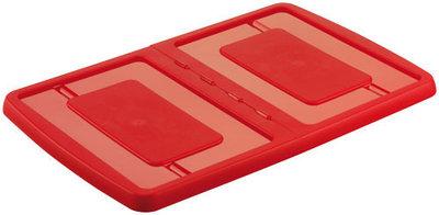 Deksel voor Opbergbox Nesta 600 x 400 x 26 mm, 30L & 51L rood