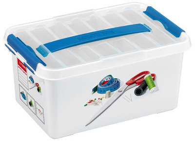 Plastic Naaibox 6 ltr., Q-line Sunware