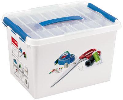 Plastic Naaibox 22 ltr., Q-line Sunware