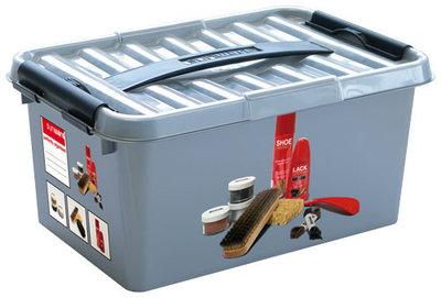 Plastic schoensmeer box (shoepolish) 6 ltr., Q-line Sunware