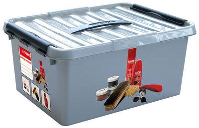 Plastic schoensmeer box (shoepolish) 15 ltr., Q-line Sunware
