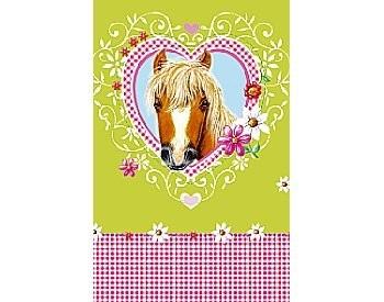 Plastic tafelkleed 118x180, Pretty Horse ** Duni