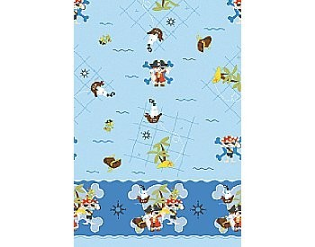 Plastic tafelkleed 118x180, Captain Jack ** Duni
