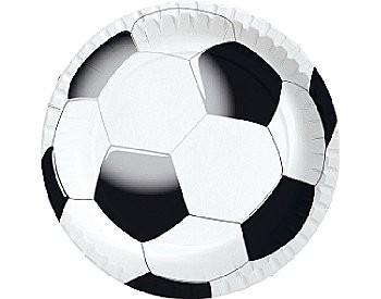 Kartonnen bord dia 22 cm, Soccer ** Duni
