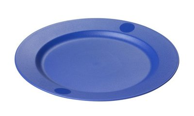 Plastic Bord, blauw 25 cm