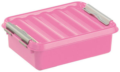 Q-line, lunchbox Pink&zilver ** Sunware