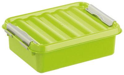 Q-line, lunchbox groen/zilver ** Sunware
