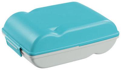 Lunchette, lunchbox blauw&zilver ** Sunware