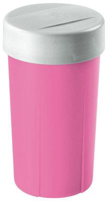 Lunchette,drinkbeker Pink&zilver ** Sunware