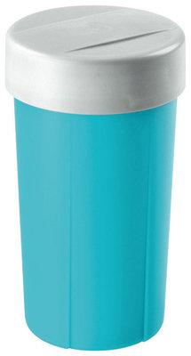 Lunchette,drinkbeker Turquoise&zilver ** Sunware