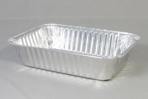Rechthoekige aluminium wegwerp bakje 19,5x14x5 cm kapsalon
