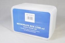Plastic microwave bakje met deksel rechthoekig 500  ml