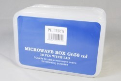 Plastic microwave bakje met deksel rechthoekig 1000  ml