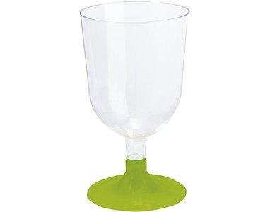 Wijnglazen15 cl BBQ Groen Line , Plastic ** Duni