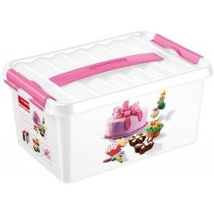 Plastic fun baking decor box 6 ltr., Q-line Sunware