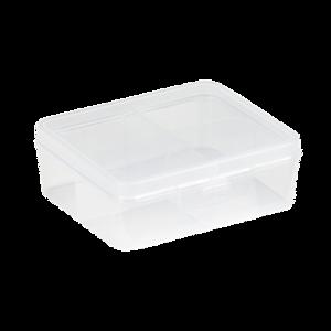 Sorteerdoos 4 vaks 146x130x52 mm blank transparant Q-line Sunware