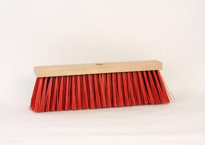 Stadsbezem 40 cm rood kunstvezel