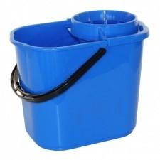 Mopemmer met uitwringkorf 12 liter blauw
