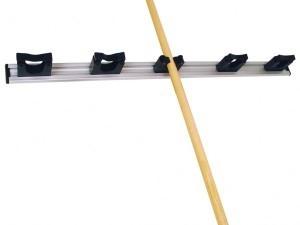 Toolflex wandstrip met klemmen zwart 90 cm
