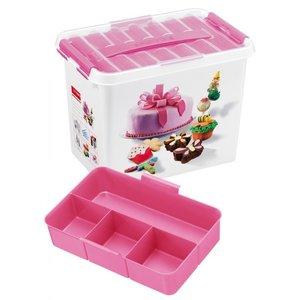 Plastic fun baking box 9 ltr., Q-line Sunware