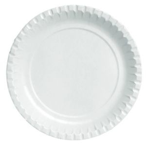 Borden wit plat Ø 22 cm, Karton ongelamineerd * Duni