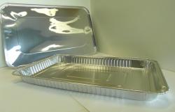 Platte aluminium wegwerp schaal
