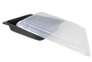 Deksel voor plastic bakje zwart