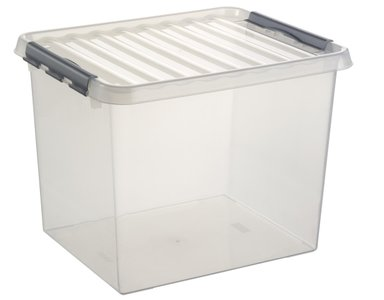 Sunware Opbergbox met klemdeksel - 52 liter - Q-line - transparant