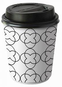 papieren beker met drinkdeksel 24 cl, Coffee to go