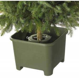 Kerstboomstandaard vierkant 40 cm donkergroen Sunware