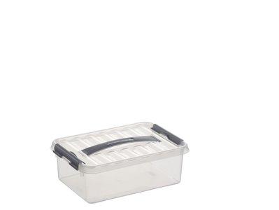 Plastic Opbergdoos 4 liter met Klemdeksel, Sunware Q-line