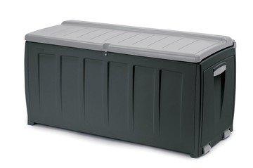 Keter model Novel kussenbox 340 liter Kunsstof 124,5 x 55 x 61,5 cm antraciet/grijs