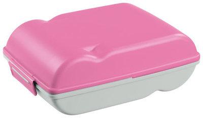 Lunchette, lunchbox Pink&zilver ** Sunware