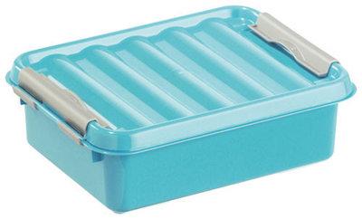 Q-line, lunchbox blauw&zilver ** Sunware