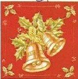Duni Kerst servet Kerstklok - 33 x 33 cm - 20 stuks