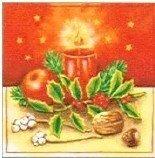 Duni Kerst servet Kerststukje - 33 x 33 cm - 20 stuks