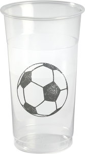 Bierglazen 50 cl, soccer, Plastic **, Duni