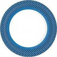 Borden Ø 22 cm BBQ Blue Line, plat, Karton, gelamineerd *** Duni
